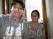 Yashaii Moran y su abuela Celestina Felices Hurtado