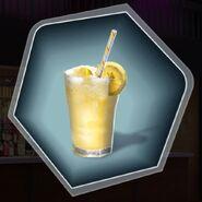 Frosted frozen lemonade yellow drink slush