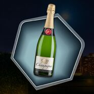 Bottle champagne green