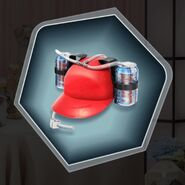 Sports beer soda can hat tubing red