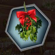 Christmas green red berries mistletoe