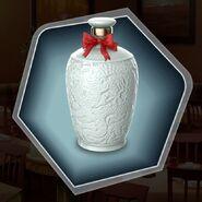 White bottle rice wine ceramic bow