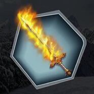 Trholiday flame lythikos sword fire