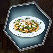 Truffle mushroom pasta plate