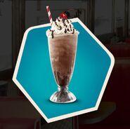 Malted peanut butter chocolate milkshake