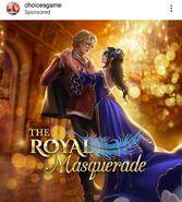 The Royal Masquerade IG ad