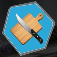 Knife cutting board slice chop mince