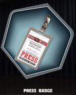P Shane's Press Badge