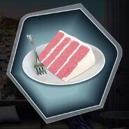 Pink strawberry champagne cake