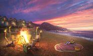 BeachBonfireSunset