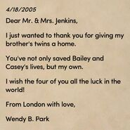 HSSCA Letter from Wendy to the Adoptive Parents