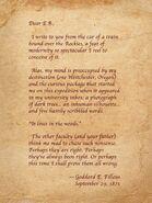 Goddard E. Filleus Letter 1