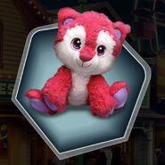 Pink stuffed animal bear