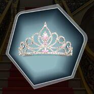 Pink rhinestone tiara diamond