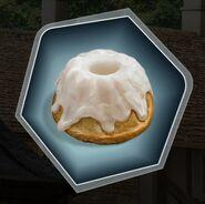 Sweet roll lemon bundt vanilla cake pastry