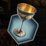 Ilitw old goblet gold inlay