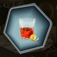 Sazerac red alcohol glass tumbler