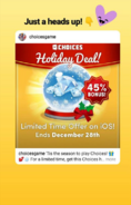 HolidayDealforIOSplayerannouncementonIGstory