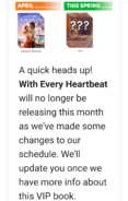 WEH release delay
