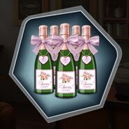Mini champagne bottles party favor