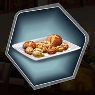 Bread rolls pastries butter breakfast