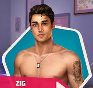 Zig shirtless