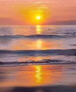 SunsetBeachWaves