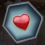 Red heart token