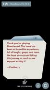 BB end message Part II