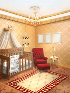 TRH Royal Glam Nursery with Starry Mobile