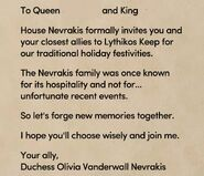 Holiday invitation queen king