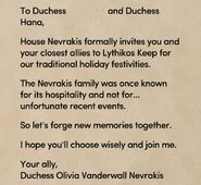 Holiday invitation duchesses