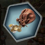 Ds purse share of loot gold coins