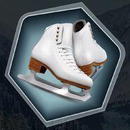 White ice skates