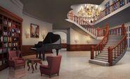 Nightimelivingroomoldhollywoodhouse