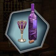 Trm fydorian wine bottle glass