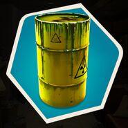 Hazardous Nuclear Waste Barrel