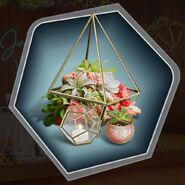Succulents Cactus Flower Candle Centerpiece