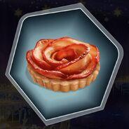 Apple peach fruit tart pastry cookie rose flower