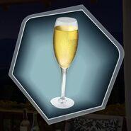Sparkling wine champagne apple cider