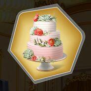 Boho three tier layer cake flowers