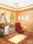 TRH Royal Glam Nursery with Rustic Mobile