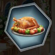 Roasted swan goose duck chicken turkey