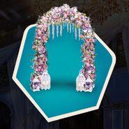 Wedding floral prom arch lanterns