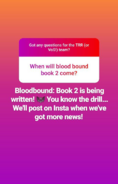 BloodBoundBook2earlySept2018statusreport