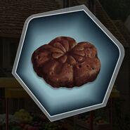 Dark chocolate sugar cake flower cookie