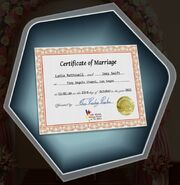 Lydia Joey Marriage Certificate