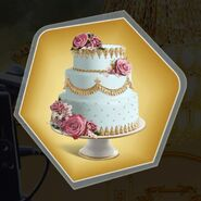 Fairytale roses gold decorated cake three tier layers