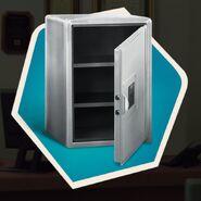 Open metal safe
