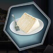 White vanilla angel food cake
